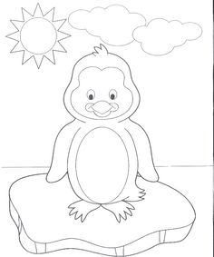 a very cute baby penguin coloring pages penguin coloring pages