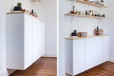 21 Best IKEA IVAR Storage Hacks Are your closets overflowing? Hide your stuff beautifully with one of these stylish IKEA IVAR storage hacks.: How to Hack More Kitchen Storage - Kitchen Furniture Storage Ikea Kitchen Design, Ikea Kitchen Cabinets, Kitchen Furniture, Furniture Storage, Ikea Storage Cabinets, Cabinet Storage, Furniture Nyc, Cheap Furniture, Table Furniture