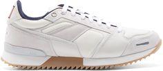 AMI Alexandre Mattiussi Cream Paneled Sneakers