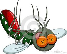 Illustration about Death mosquito cartoon with a white background. Illustration of clip, cartoon, animal - 43472282 Mosquito Life Cycle, Cartoon Eyes, Mosquitos, I Tattoo, Baby Animals, Cartoons, Death, Illustration, Drawings