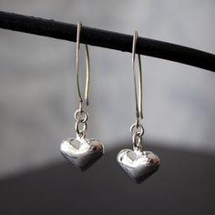 Heart Dangle Earrings, Sterling Silver, Classic, Kinsey Designs on Etsy, $22.00 CAD