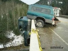 "Ok. Car accidents are NOT funny, but looking at these images really makes one wonder...""what the heck happened here?!"""