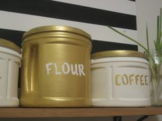 plastic coffee can crafts | ... (made from plastic Folgers coffee cans) | small steps, big picture