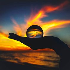 Lensball winner of the week: 'Fiery sunsets' by - Mention us in your caption and tag your Lensball photos with for a chance to win the Lensball! Illusion Photography, Glass Photography, Reflection Photography, Photography 101, Creative Photography, Amazing Photography, Landscape Photography, Bubble Pictures, Cool Pictures