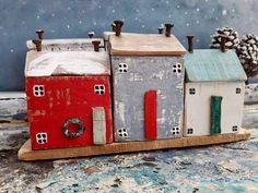 Cadeaux sous 25 maison de bois flotté cadeaux de Noël