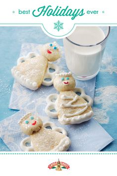 Sweet candy coating and white icing give these adorable angel cookies a heavenly glow.