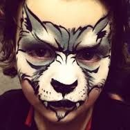 Image result for face paint wolf