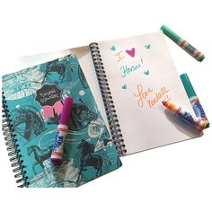 Personalized Fun Notebooks  Horse Pattern by TIPgifts on Etsy, $20.75