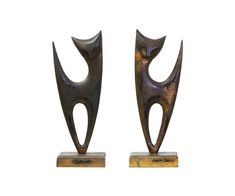 Mid Century Abstract Cat Sculptures | Danish Modern L.A.
