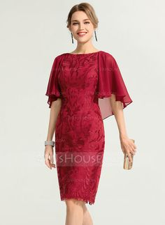 Sheath/Column Scoop Neck Knee-Length Lace Cocktail Dress JJsHouse Sheath/Column Scoop Neck Knee-Length Zipper Up Regular Straps Sleeveless No Burgundy General Plus Lace Cocktail Dress. Dresses Near Me, Modest Dresses, The Dress, Elegant Dresses, Pretty Dresses, Sexy Dresses, Evening Dresses, Casual Dresses, Short Dresses