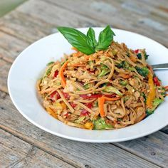 Spicy Peanut Chicken Noodle Salad - I made it without the spice for the kids and with the spice for the grown-ups.  This was well-received by everyone and even requested to have a regular spot in our menu rotation.