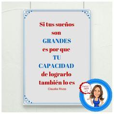 #felizmartes Si tus #sueños son grandes es por que #tucapacidad tambien lo es #pensamientodeldia #empiezaacreerenti #claudiarivas
