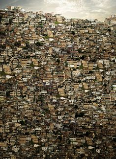 A favela is the term for a slum in Brazil, most often within urban areas. The first favelas appeared in the late 19th century and were built by soldiers who had nowhere to live. Some of the first settlements were called bairros africanos.photo by Fernando Alan