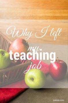 There are many sides to teaching and to a teacher that the average person doesn't see. I've written about teacher secrets here.To resign from a financially satisfying but energy and emotion zapping teaching job wasn't easy, but it had to be done. Here's a view from the inside, as well as the outside. As a …