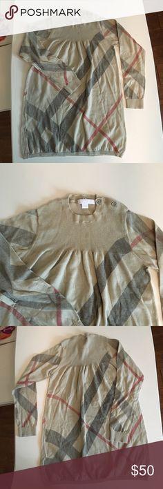 Burberry sweater dress girls size 5y Burberry sweater dress size 5y Burberry Dresses Midi
