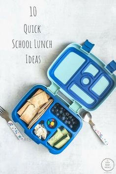 10 Quick School Lunch Ideas- Easy Baby Meals- www. Healthy Crockpot Recipes, Baby Food Recipes, Vegetarian Recipes, Healthy Treats, Healthy Kids, Exotic Food, Cooking With Kids, School Lunch, Kid Friendly Meals