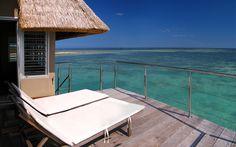 Bungalow sur pilotis- Escapade Island Beach Resort- Ilot maitre- Nouvelle- Calédonie- bungalow- lagon