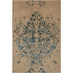 Veleno Collection Hand-Tufted Area Rug in Tan & Teal design by Chandra... ($583) ❤ liked on Polyvore featuring home, rugs, taupe area rugs, modern contemporary rugs, contemporary area rugs, teal rugs and contemporary rugs
