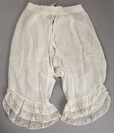 Underpants (Drawers)  Date: ca. 1885 Culture: American or European