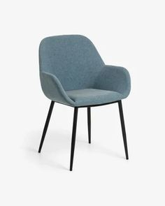 Konna chair in mustard corduroy   Kave Home Cafe Chairs, Kitchen Chairs, Dining Room Chairs, Office Sofa, Chair Fabric, Light Blue, Furniture, Home Decor, Design