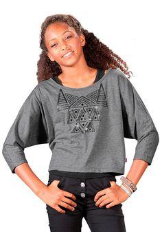 Produkttyp , Shirt & Top, |Bindungsart , Single Jersey, |Materialzusammensetzung , Obermaterial: 65% Polyester, 35% Baumwolle. Obermaterial 2: 95% Baumwolle, 5% Elasthan, |Farbe , grau-meliert-schwarz, |Pflegehinweise , Maschinenwäsche, |Auslieferung , liegend, | ...