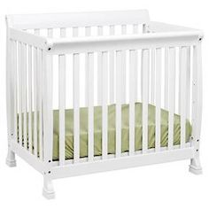 The Kalani Mini Crib is elegance, durability and reliability. Mirroring the Kalani 4-in-1 Crib's timeless design, the Kalani Mini Crib features soft, subtle curves and the same lifetime functionality. Four mattress levels allow you to adjust the mattress height to your child's growth. Beyond the nursery years, the Kalani Mini Crib conveniently becomes a beautiful twin-size bed (conversion rails sold separately).<br><br>Features:<br><br>• Meets...