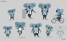 Novas artes do filme Sing, da Illumination, por Eric Guillon | THECAB - The Concept Art Blog