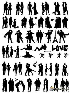 Hirsch Silhouette, Silhouette Clip Art, Silhouette Cameo Projects, Romantic Couples, Wedding Couples, Posing Guide, Couple Photography Poses, Couple Drawings, Portrait Poses