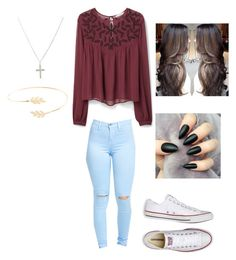 """""""Would you guys wear this on Saturday?  (please comment yes or no)"""" by hdflynn ❤ liked on Polyvore featuring MANGO, Accessorize and Converse"""