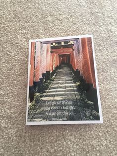 A personal favorite from my Etsy shop https://www.etsy.com/ca/listing/495802394/encouragement-greeting-card-photo