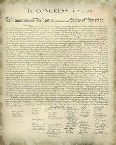 Free Printable Declaration of Independence