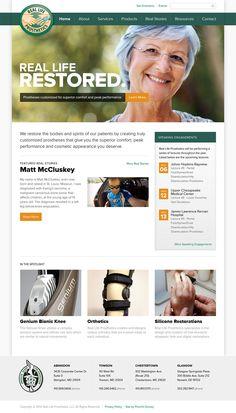 Real Life Prosthetics | Website Design