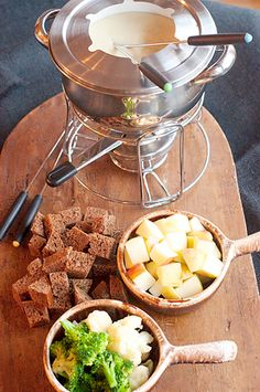 Cheese Fondue - YUM!