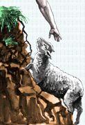 shepherd rescuing a lost sheep.gif (123×180)