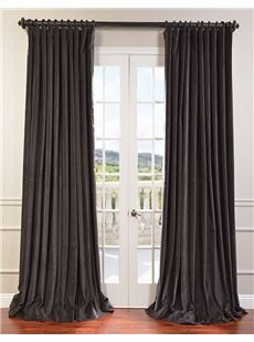 Iron Grey Doublewide Vintage Cotton Velvet Curtain Mauve Textured Linen Blend Pole Pocket Curtain on discounted prices with coupon and promo codes from Halfpricedrapes.com.
