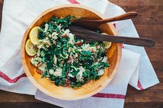 shaved brussels sprouts and kale salad with bacon, meyer lemon, and tart dried cherries