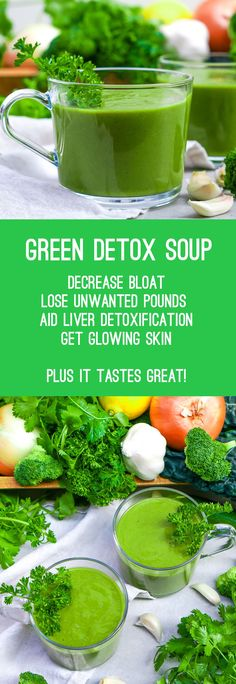 Green Detox Soup (Gluten Free, Paleo, Vegan) - A healthy detox soup that tastes great any time of the day. Don't let the look turn you off, this soup is both healthy and fantastic! Stop Eating, Clean Eating, Healthy Eating, Healthy Food, Healthy Meals, Easy Meals, Sugar Detox Recipes, Vegan Recipes, Cleanse Recipes