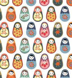 Prints + Patterns. #Print #Pattern #Russian #Matryoshka #NestingDolls