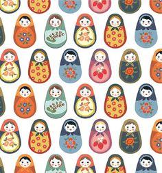 Prints + Patterns. #Print #Pattern #Russian #Matryoshka #NestingDolls