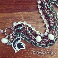 Michigan State University  Multichain by alliefayedesigns on Etsy