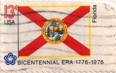 US postage stamp, 13 cents.  Florida.  Issued 1976.  Scott catalog 1659.