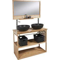 meuble de salle de bains natural - Cuisine Gris Galet