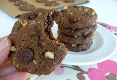 Almond Flour Double Chocolate Chip Cookies Recipe | In The Kitchen With Honeyville