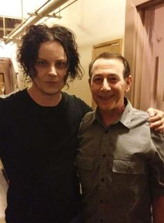 Two awesome people: Jack White and Paul Reubens (aka PeeWee Herman)