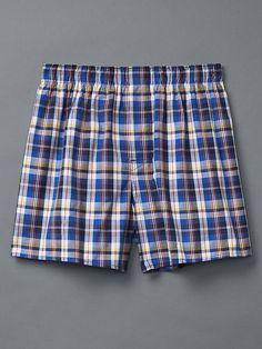 Madras plaid boxers