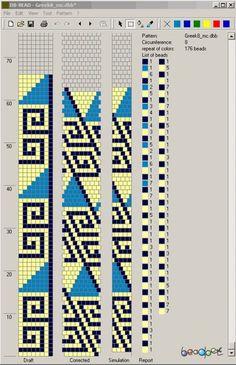 8 around bead crochet rope pattern Bead Crochet Patterns, Bead Crochet Rope, Peyote Patterns, Bracelet Patterns, Beading Patterns, Beaded Crochet, Crochet Beaded Bracelets, Bead Loom Bracelets, Loom Bracelets