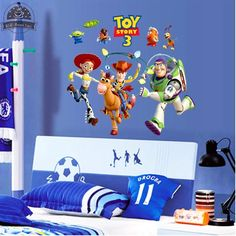 Buzz Lightyear Toy Story vinyl wall stickers for kids rooms home decor living room sofa wall decals home decoration wallpaper #Affiliate