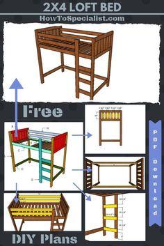 diy loft bed for kids . diy loft bed for adults . diy loft beds for small rooms . diy loft bed with desk . diy loft bed for kids how to build . diy loft bed for kids small room Loft Bed Diy Plans, Build A Loft Bed, Bunk Bed Plans, Murphy Bed Plans, Murphy Beds, Toddler Loft Beds, Twin Size Loft Bed, Adult Loft Bed, Low Loft Beds