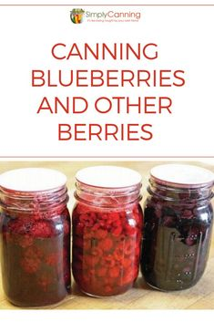 Great Flower Supply Expert Services Available Online Canning Blueberries, Fresh Or Frozen, Is A Straightforward Process That Is Easy To Master. Home Canning Recipes, Canning Tips, Jam Recipes, Cooking Recipes, Garden Canning Ideas, Canning Soup, Pressure Canning Recipes, Easy Canning, Chutney