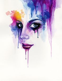 Abstract self-portrait by Katelyn Arquette, via Behance